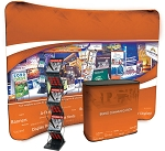 10' Curved Pocket Wall Display Set