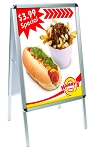 Double Sided Single Panel  A-frame Display- 25