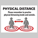 Physical Distance - Coroplast Yard Sign
