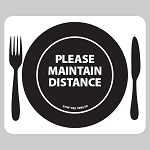 Cafeteria Placemat - Adhesive backed vinyl