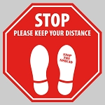 STOP - Octagon Floor Decal