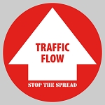 Traffic Flow - Circle Floor Decal