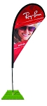 Single Sided Teardrop Windflag (available in 3 sizes)